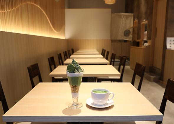 西条園抹茶カフェ グローバルゲート店 客席